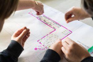 École primaire Hélène-Boullée, planification de l'aménagement en plan
